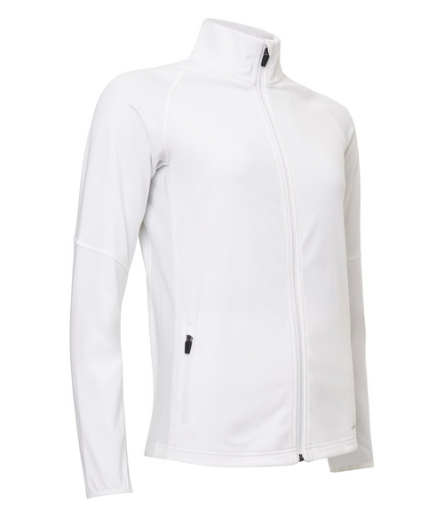 Abacus Sportswear White Ashby Full-Zip With Pockets