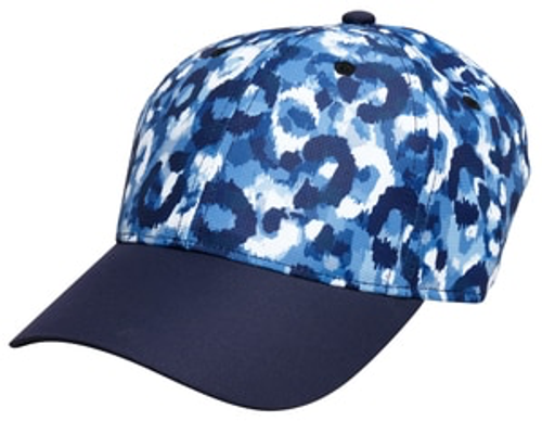 Glove It Blue Leopard Cap Hat