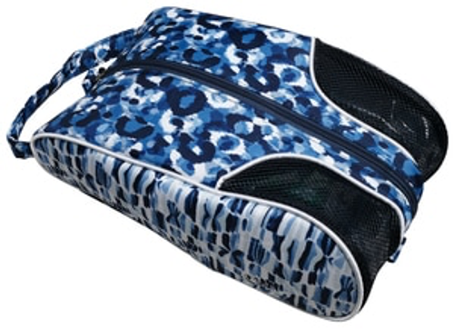 Glove It Ladies Blue Leopard Shoe Bag