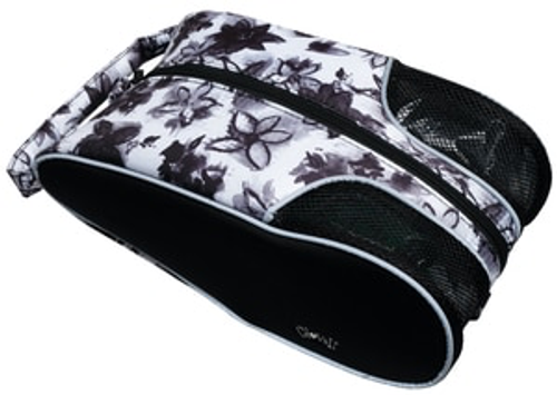 Glove It Ladies Graphite Flower Shoe Bag