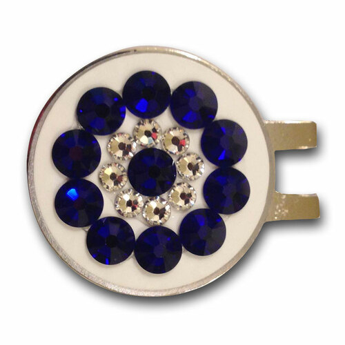 Blingo Cobalt on White Ladies Golf Ball Marker