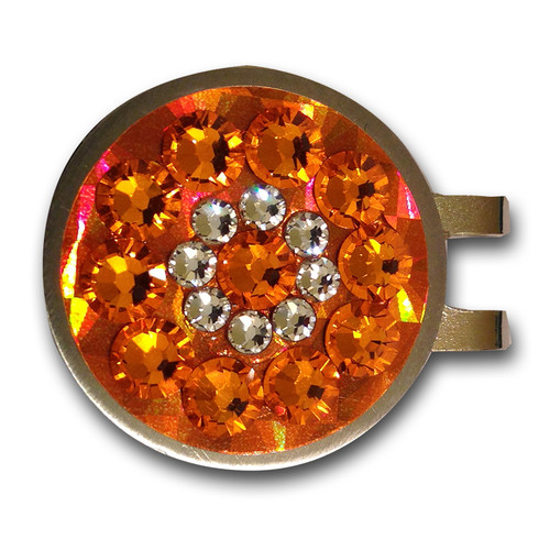 Blingo Orange Reflective Ladies Golf Ball Marker
