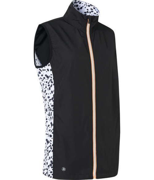 Abacus Sportswear Black/White Ganton Windvest