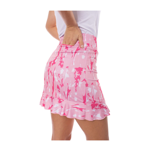 Shades of pink and white camouflage and a ruffle on the bottom for an extra flair. Mamma Mia is a combination of hot pink, light pink and white