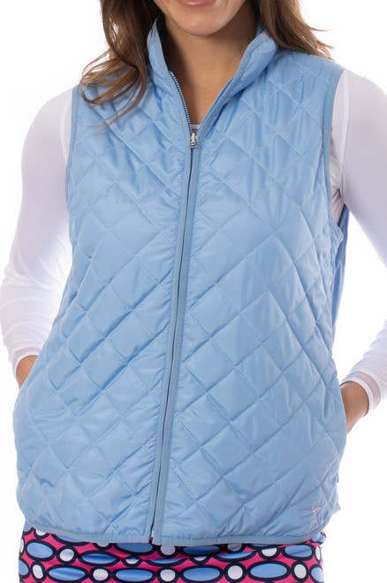 Golftini Sky Blue Quilted Wind Vest