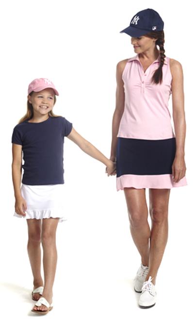 Golftini Girl Basic Logo Tee - Navy