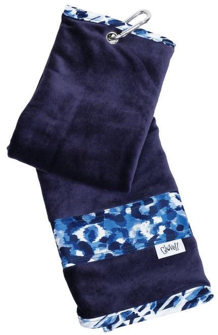Glove It Blue Leopard Towel