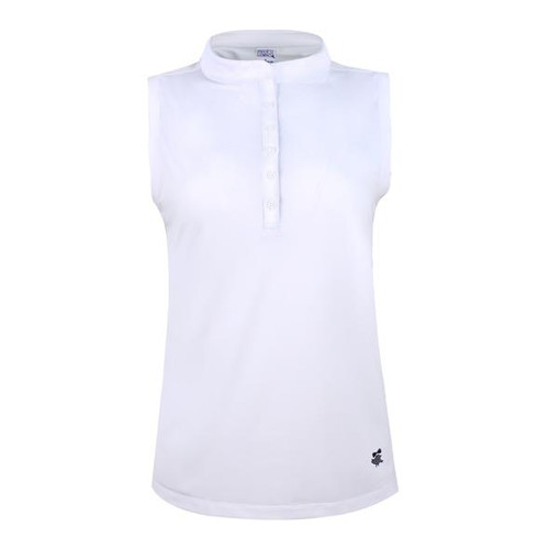 Birdies & Bows Rim Cup Polo- Solid White