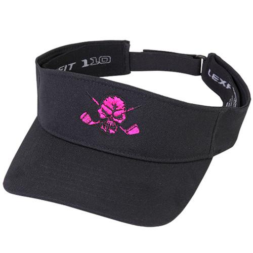 Tattoo Golf Visor Lucky 13 (Black/Pink)