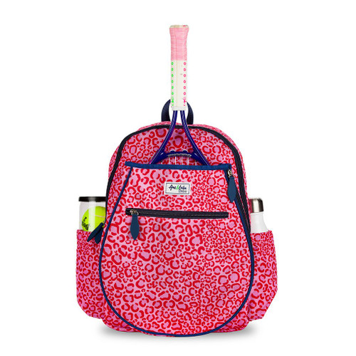 Ame & Lulu Big Love Pink Leopard Kid's Tennis Back Pack