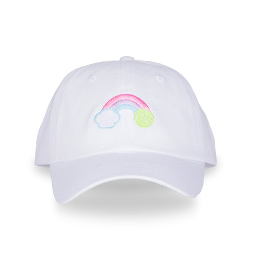 Ame & Lulu Pastel Rainbow Kid's Tennis Camper Hat
