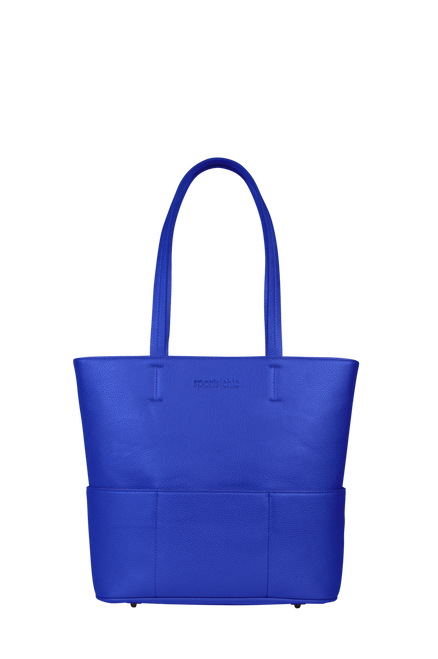 SportsChic Women's Vegan Midi Tote - Classic Blue