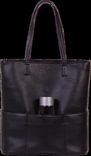 SportsChic Women's Vegan Tote Bag - Black Moon