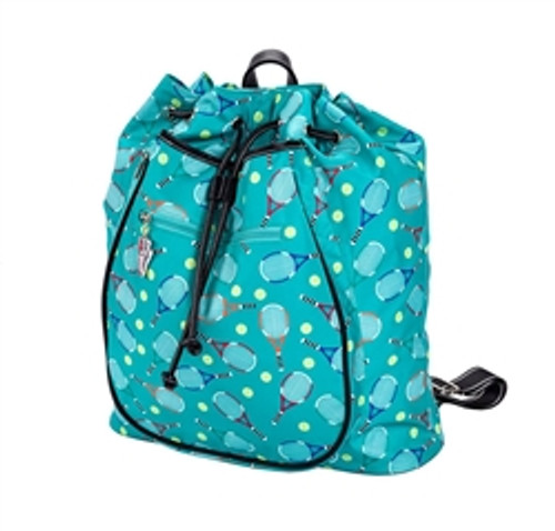 Sydney Love Serve It Up Tennis Backpack-Turquoise