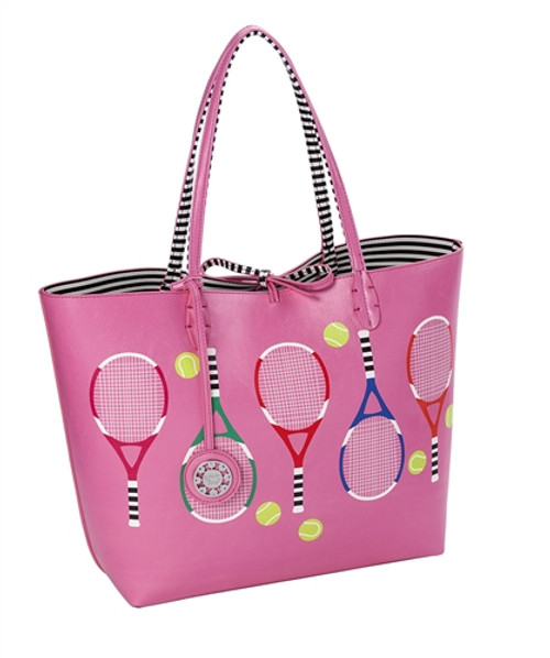 Sydney Love Tennis themed Reversible Tote-Pink
