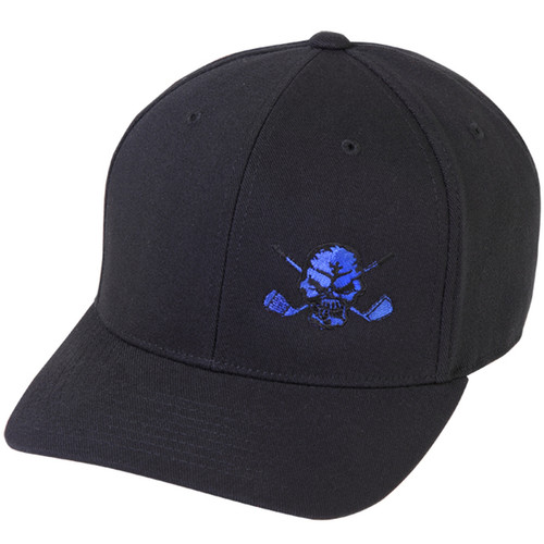 Tattoo Golf Lucky 13 Skull Hat (Black/Blue)- One Size Fits All