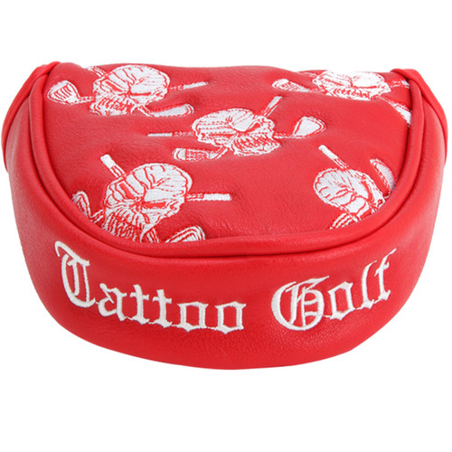 Tattoo Golf Golf Putter Cover -Two Ball / Mallet Style (Red)