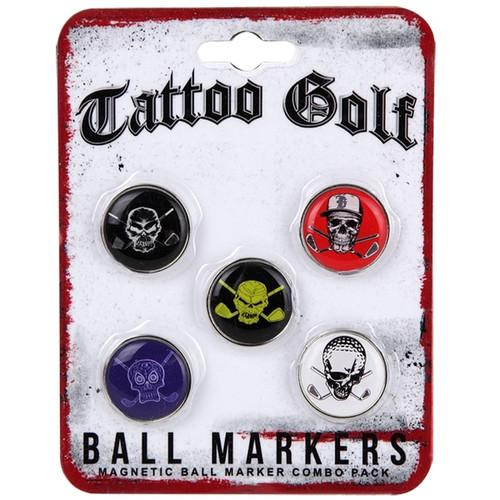 Tattoo Golf Ball Marker Combo Pack