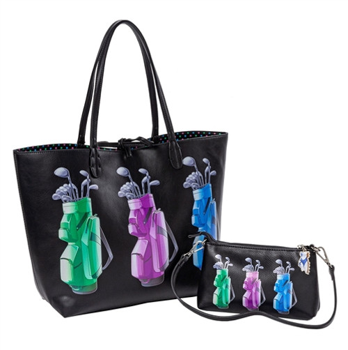 Sydney Love It's in the Bag Golf Reversible Tote with Inner Pouch