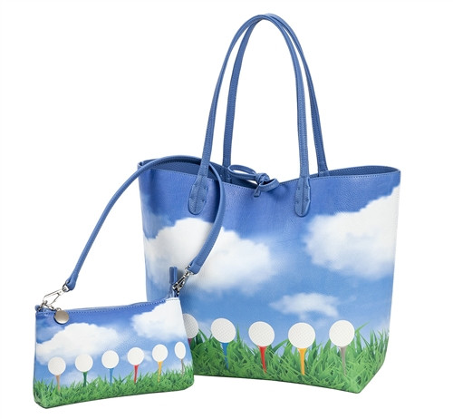 Sydney Love Teed Off Golf Reversible Tote with Inner Pouch