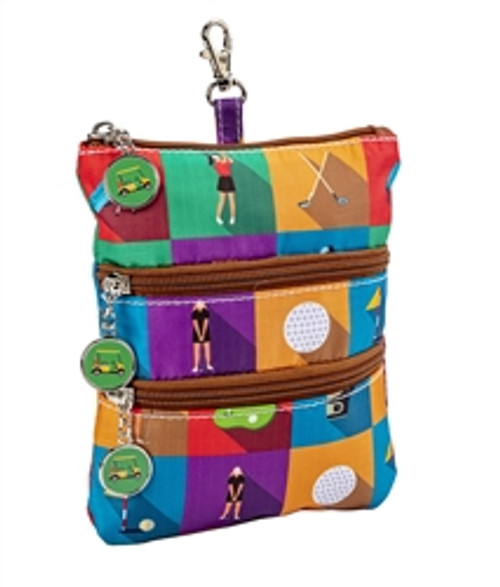 Sydney Love Championship Round Clip on Golf Accessory Pouch