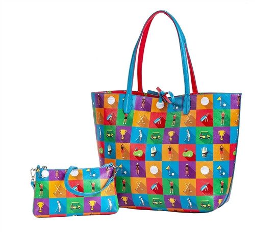 Sydney Love Championship Round Golf Reversible Tote with Inner Pouch