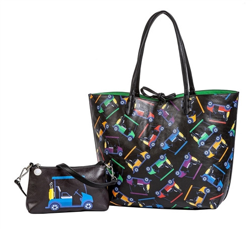 Sydney Love Cart Path Only Golf Reversible Tote with Inner Pouch