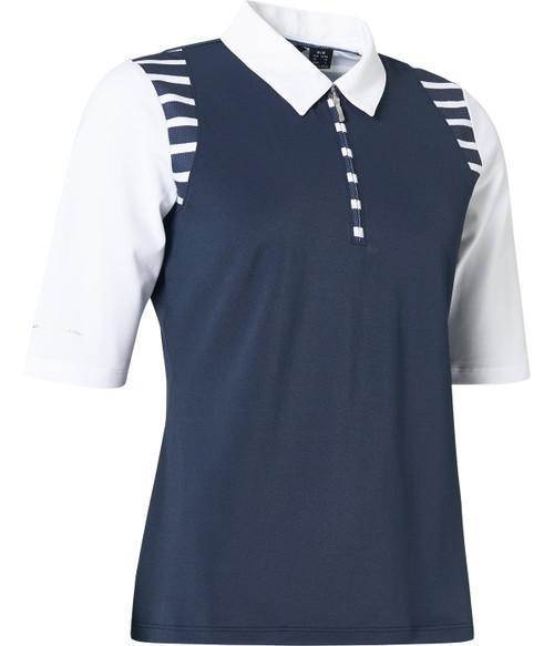 Abacus Sportswear Anne Polo Half Sleeve - Stripes