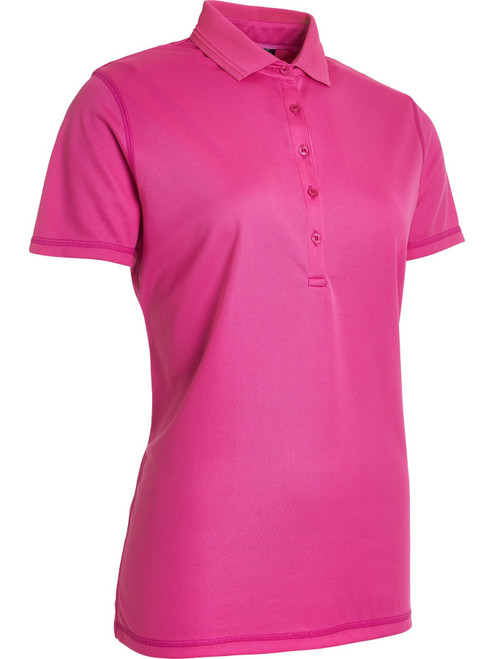 Abacus Sportswear Clark Short Sleeve Polo Shirt - Power Pink