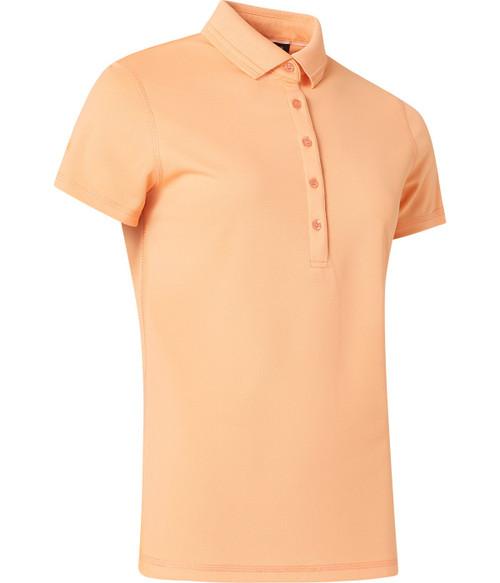 Abacus Sportswear Clark Short Sleeve Polo Shirt - Apricot