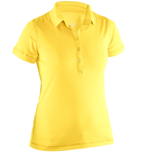 Abacus Sportswear Clark Short Sleeve Polo Shirt - Yellow