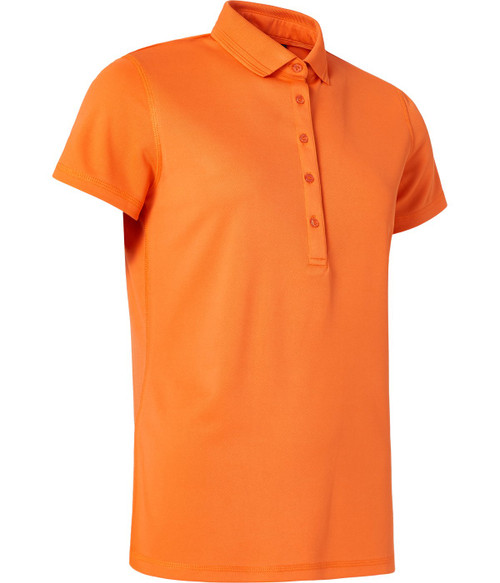 Abacus Sportswear Clark Short Sleeve Polo Shirt - Mandarine