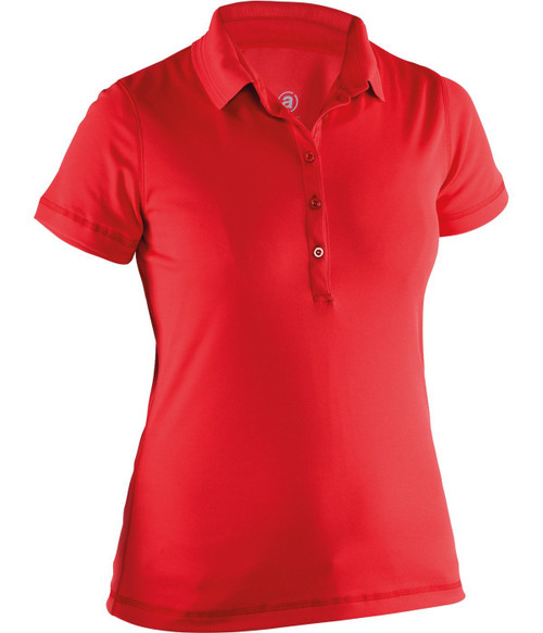 Abacus Sportswear Clark Short Sleeve Polo Shirt - Red