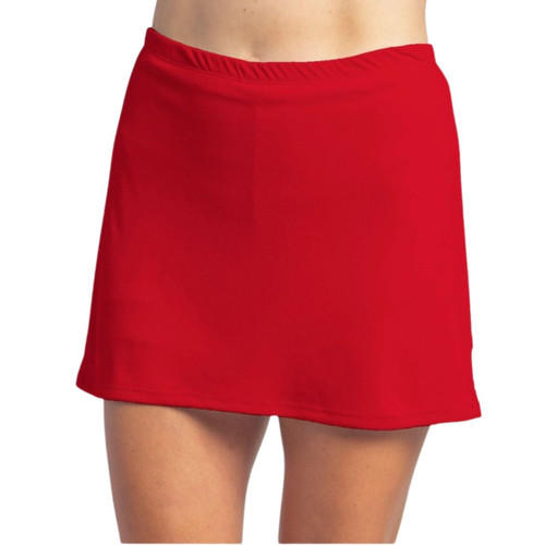 FestaSports Solid Red sporty skirt is fabulous for all activewear and running around town getting things done. The specialized FestaFit makes this skort a must have for function and comfort. Inner shorts have lower leg band to store balls during fierce tennis matches.