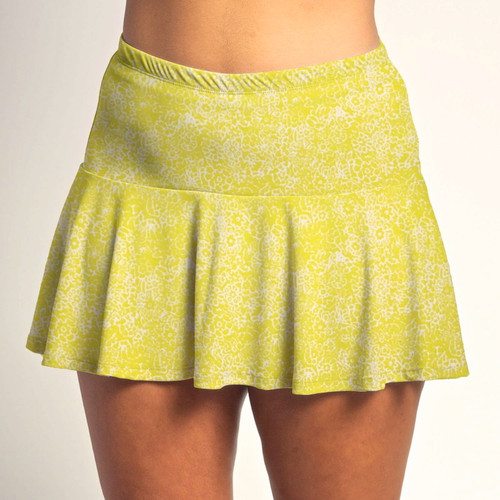 FestaSports Lemon Drop Shot all over print Flounce Skort  is fabulous for all activewear and running around town getting things done. The specialized FestaFit makes this skort a must have for function and comfort. Inner shorts have lower leg band to store balls during fierce tennis matches.