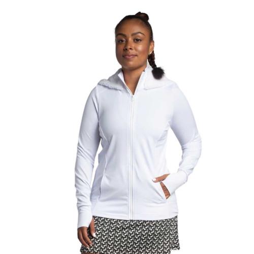FestaSports Mesh Back Jacket w/ Fur lined Hood - White