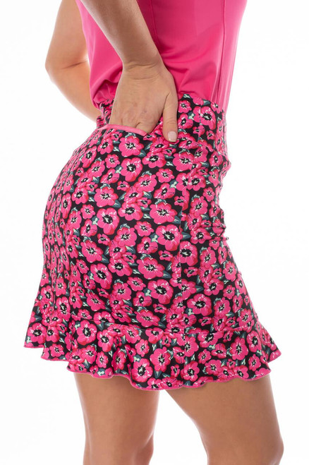 Little Red Corvette's floral mix of hot pink, red, green, and black isn't only sharp but flattering too. Guaranteed to be just a popular as the 80's jam!