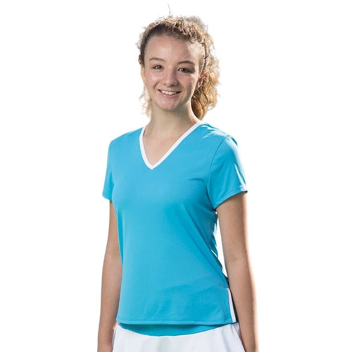 Festasports Short Sleeve V-neck tee is made in our fantabulous activewear fabric. Colors are made to match our skorts for a full uniform look.