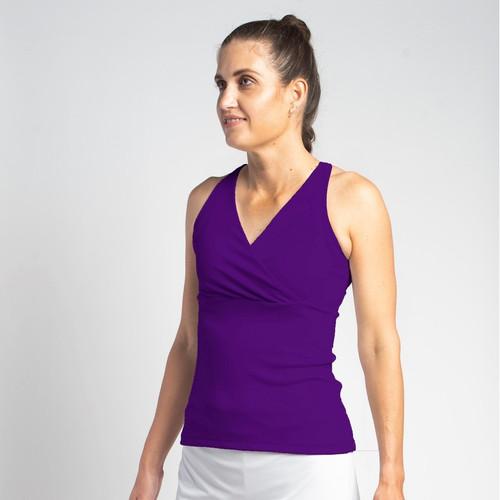 Festasports' Purple Racerback tank top is made in fantabulous activewear fabric.