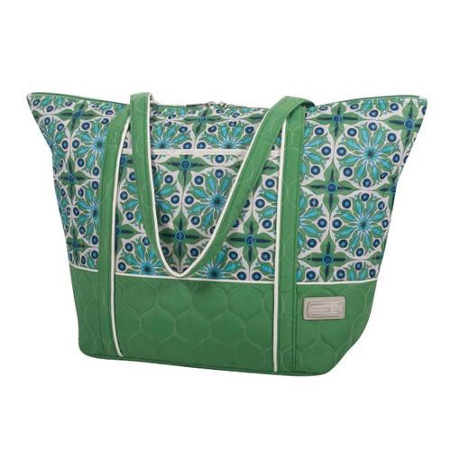 cinda b Super Tote Verde Bonita
