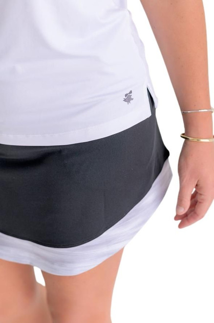 Birdies & Bows Drive It Black Golf Skort - Long
