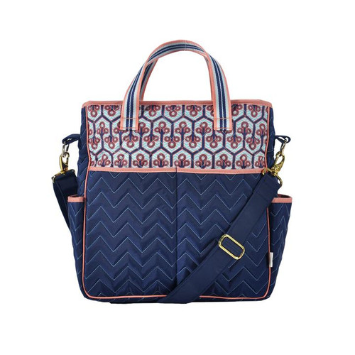 Cinda b Neptune Out and About Women's Large Tote Bag is a dependable tote bag that will simplify your life. Go hands-free by using the adjustable crossbody strap, or carry it as a handbag with the soft webbing top handles.