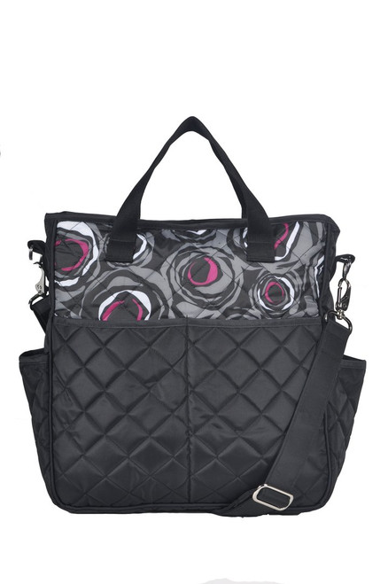 Cinda b Rosalita Black Out and About Women's Large Tote Bag is a dependable tote bag that will simplify your life. Go hands-free by using the adjustable crossbody strap, or carry it as a handbag with the soft webbing top handles.