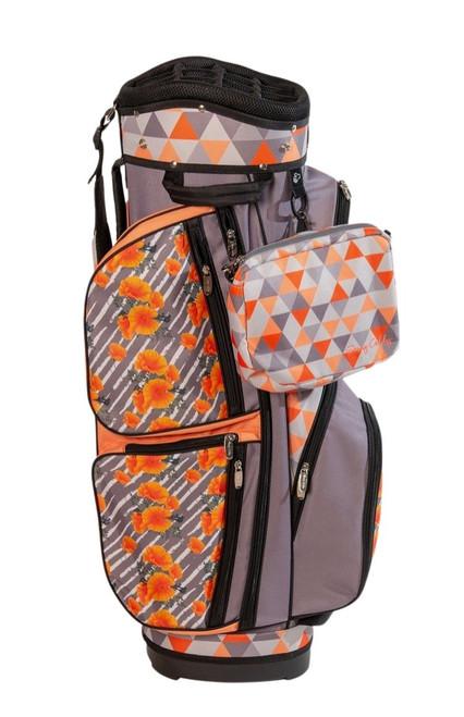 Sassy Caddy Havana Lightweight Golf Cart Bag comes with free cross body wristlet