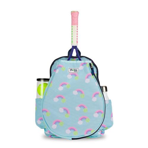 Ame & Lulu Little Love Pastel Rainbow Kids Tennis Backpack