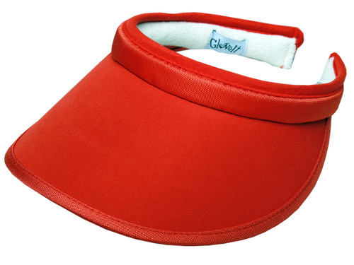 Glove It Solid Red Golf Visor with UV50 Protection