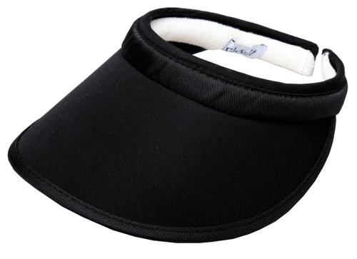 Glove It Solid Black Golf Visor with UV50 Protection