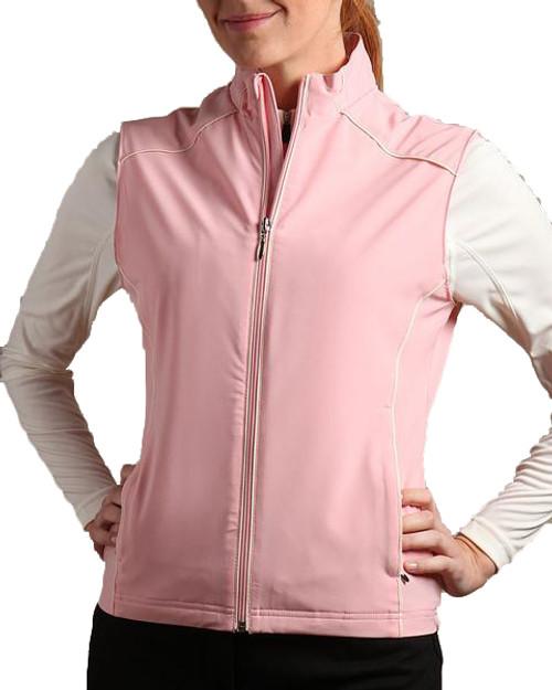 Glen Echo Golf Ladies Pink Light Stretch Tech Water Repellent Vest