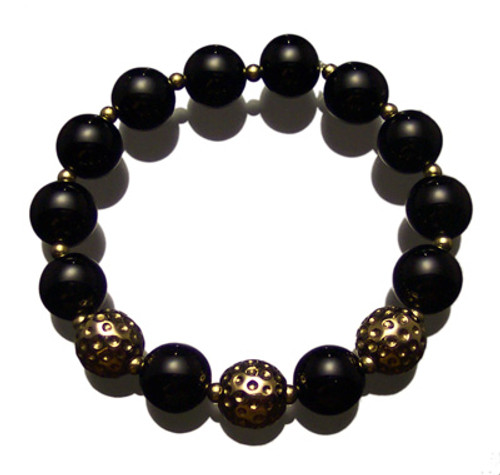 Sporty Chic Black Onyx Golf Bracelet