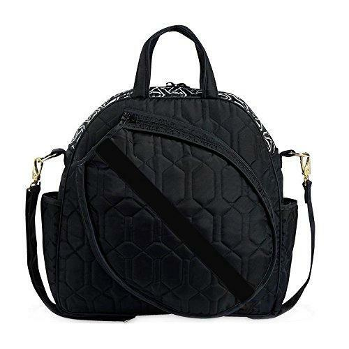 cinda b fashion ladies tennis tote bag -  Haul and store all of your tennis gear in style, on and off the court, with this roomy tote. The front racquet pocket holds up to 2 standard-sized racquets